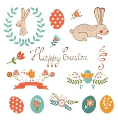 Beautiful easter collection vector