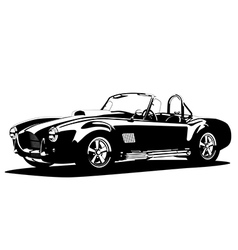 Classic sport silhouette car ac shelby cobra vector