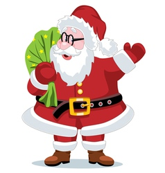 Santa claus with a sack vector