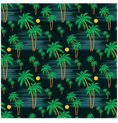 Seamless palm pattern vector