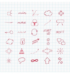 Set of simple hand drawn signs and symbols sketch vector