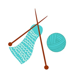 Knitting material vector