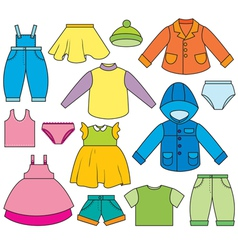 Childrens clothing vector