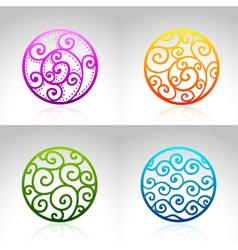Ornamental circles vector