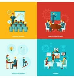 Business training flat vector