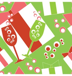 Seamless party background vector