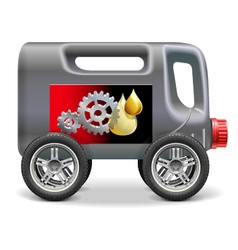 Motor oil on wheels vector