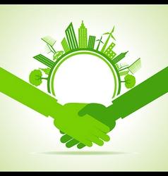 Eco cityscape -go green concept vector