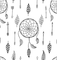 Arrow background retro pattern etnic doodle vector
