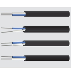 Image of a 2-wire electric aluminium cable vector