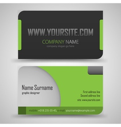 Business cards set template vector