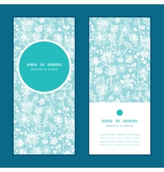 Blue and white lace garden plants vertical vector