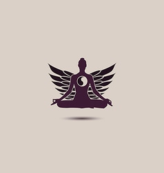 Yoga sign logo vector