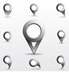 Set of gray circle pointers vector