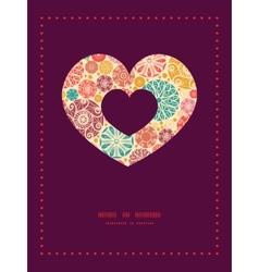 Abstract decorative circles heart symbol vector