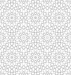 Black and white circle seamless pattern vector