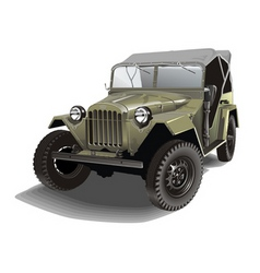 Russian army jeep vector