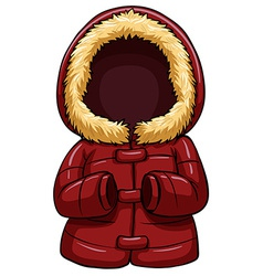 Red body warmer vector