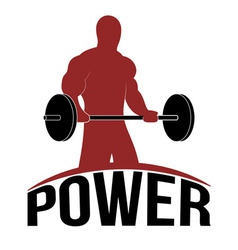 Man lifting barbell fitness icon vector