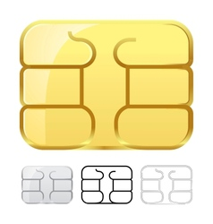Sim card chip isolated on white vector