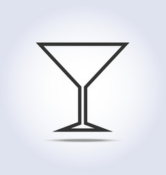 Wine glass simple web icon vector