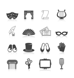 Theatre icon set vector