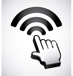 Wifi zone design vector