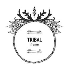 Tribal frame vector