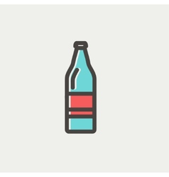 Soda bottle thin line icon vector