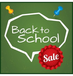 Back to school sale  eps10 vector
