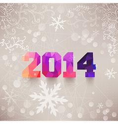 Numbers 2014 colorful numbers elegant christmas vector