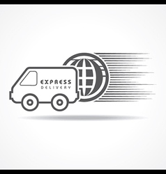 Express delivery concept for increase the sell vector