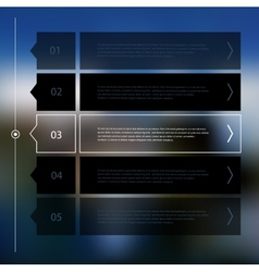 Step progress options banners on defocused vector