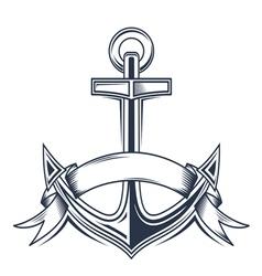 Vintage anchor vector