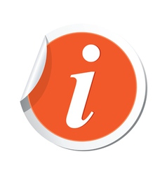 Information icon orange sticker vector