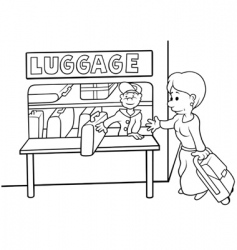 Left luggage vector