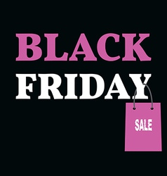 Poster for black friday sale with shopping bag vector