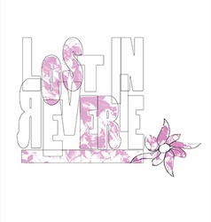 Flowers type type flower flowers pink lost vector