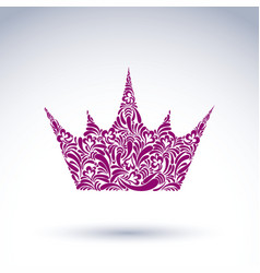 Bright flower-patterned crown best for use in vector