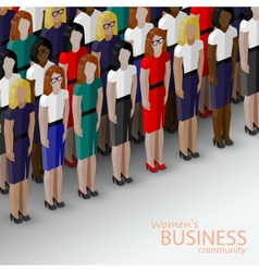 3d isometric of women business community a large vector