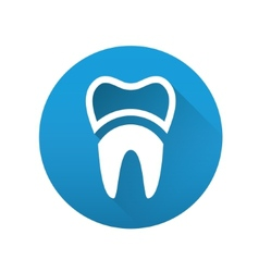 Tooth flat icon vector