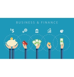 Business and finance background vector
