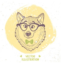Dog stylish vector