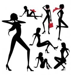 Model woman vector