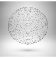 Wireframe mesh element the sphere consisting of vector