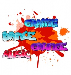 Graffiti elements background vector