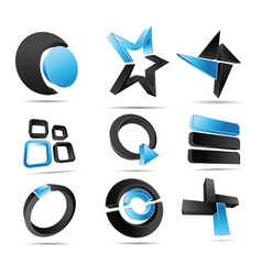 3d logo forms vector