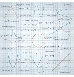 Mathematics paper background vector