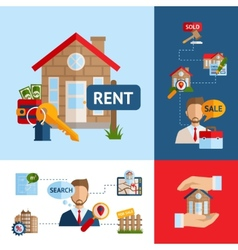 Real estate concept set vector
