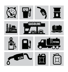 Petrol icons vector